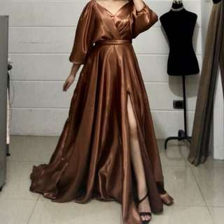 Bronze Long Evening Gown