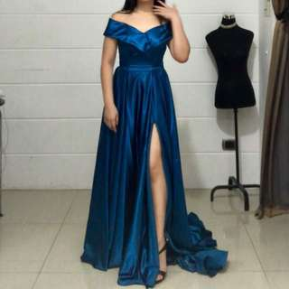 Blue Long Evening Gown