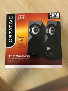 Reduced price - Creative T12 Wireless and Bluetooth Speakers