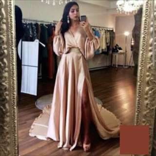 Bronze/Gold Evening Gown