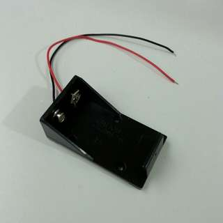 9V Battery Holder with Pigtails for Mounting on PCB and Casing