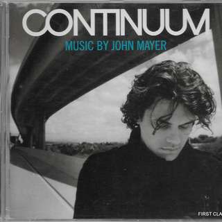 (F3T) MY PRELOVED CD - CONTINUUM - MUSIC BY JOHN MAYER  /FREE DELIVERY (F3T)