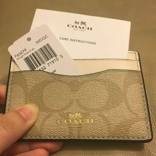 New! Coach Cardholder