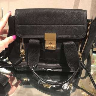 3.1 Phillip Lim Pashli Mini Black Suede Bag