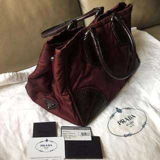 *New* Prada Leather Nylon Handbag