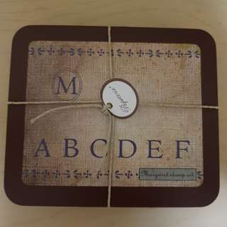 Alphabet And Tea Time rubber stamps