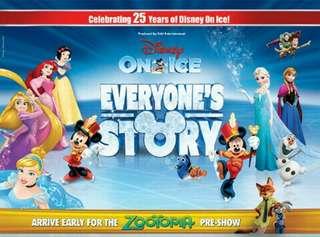 Cat 1 Disney On Ice Everyone's Story Tickets