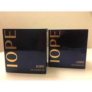 韓國IOPE水潤光感氣墊粉餅(粉餅盒+粉蕊*2組合)