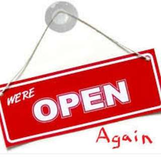 We are OPEN!😘👌🏼