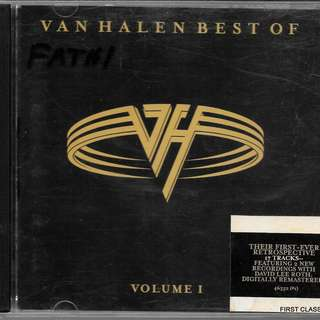 MY PRELOVED CD - VAN HALEN, BEST OF - VOLUME 1FREE DELIVERY (F3T))