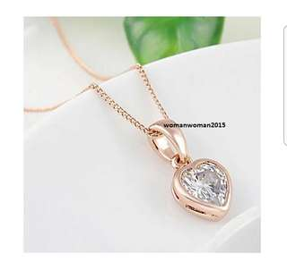 Rose Gold Plated Crystal Necklace