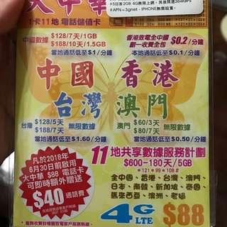 日本 韓國 台灣 澳門 泰國 馬來西亞 上網卡 sim卡
