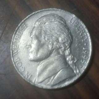 1995年美國5分硬幣
