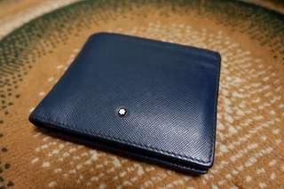 Montblanc sartorial wallet indigo blue