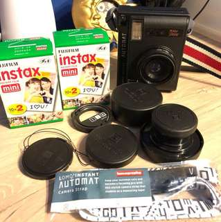 Lomoinstant Automat with Accessory lens, remote control, camera strap