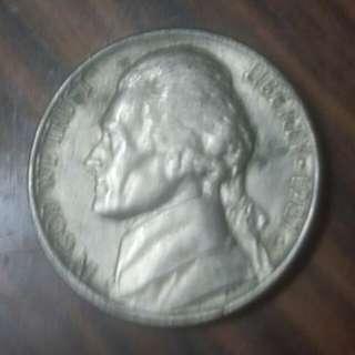 1987年年美國5分硬幣