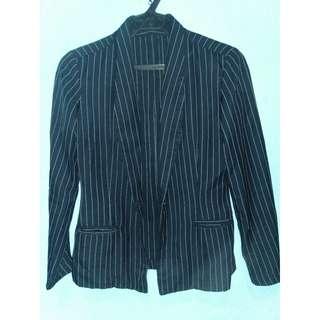 Striped Black Blazer