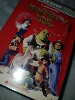 shrek - the third movie dvd disk [ chinese audio version ]