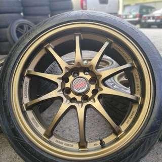 Ce28 17 inch sports rim almera tyre 70%. Goreng sotong pakai minyak hitam, rim cun cun masuk kereta apa pun memang ngam!!!