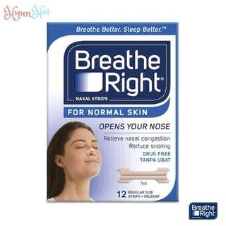 Breathe Right | Nasal Strips for Normal Skin (Regular Size 12s)