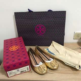 Tory burch Reva ballet in Gold
