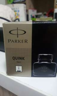 Parker quink 57ml black bottle
