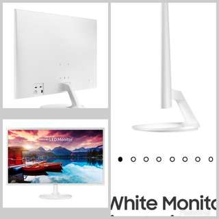 "Samsung 32"" FHD White Monitor with Super slim design SF351"