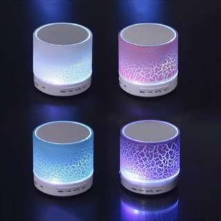 (PO) Mini Wireless Bluetooth Speaker LED LIGHT