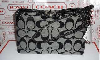 authentic coach wristlet mini handbag