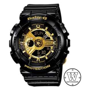 Brand New Casio Baby-G Black Gold BA-110-1A