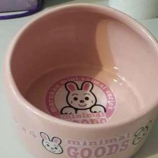 🚚 全新日本寵物食器 淡粉色陶瓷寵物碗