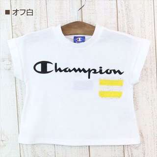 🚚 日本champion短袖寬版白、灰T 尺寸110