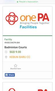 Badminton Court Kebun Baru CC 22/3/18