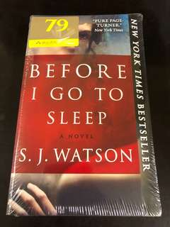 Before I go to sleep - S. J. Watson