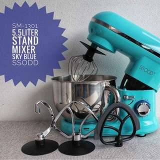 SM1301  Skyblue 5.5liters Stand Mixer