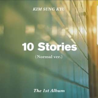 (PO)KIM SUNG KYU 1ST  ALBUM-10 STORIES(NOMAL VER)