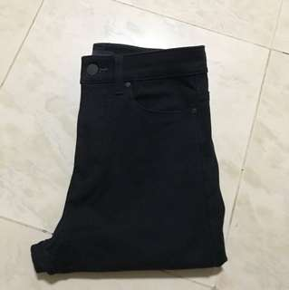 Uniqlo ultra stretch high rise black jeans