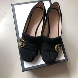 Gucci Marmont fringed loafers 50mm