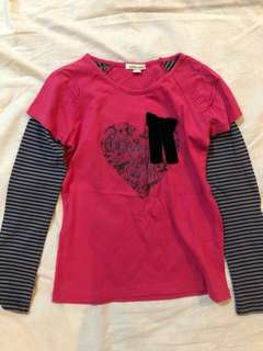 Bossini Kids Pink Long Sleeves