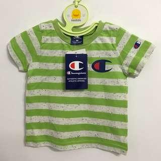 🚚 日本champion短袖綠條T 尺寸80
