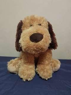 Brown dog soft toy