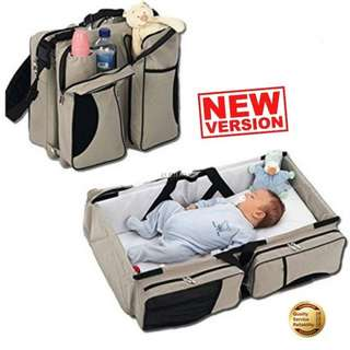 3in1 diaper bag Portable crip changing