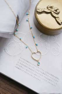 Necklace with blue turquoise