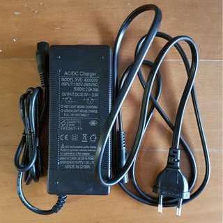 36V safety mark charger for lithium battery escooter / electric scooter [BRAND NEW]