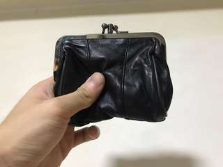Mini black coin pouch
