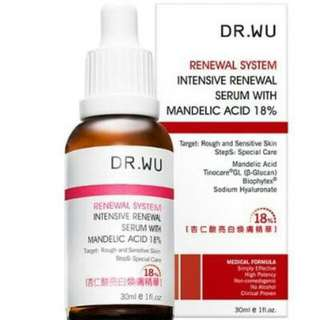 Dr Wu Renewal System Intensive Serum With Mandelic Acid 18%