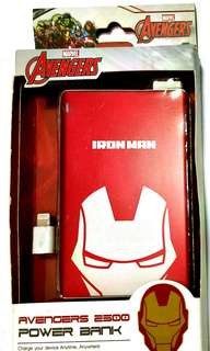 Ironman Power Bank 2500mAh Marvel