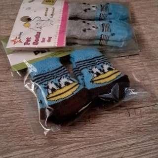 Pet socks 2 sets (1 set, 4 pieces)
