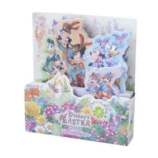 Tokyo Disneysea Disneyland Disney Resorts Sea Land Easter 2018 Note in Case Preorder