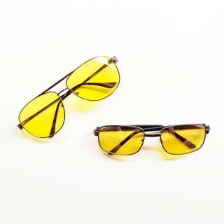 Kacamata Fashion - Yellow Retro Glasses